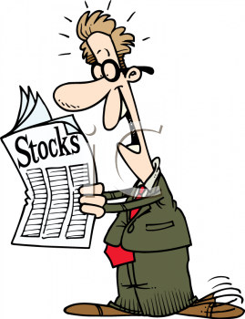 0511-1105-2016-0223_Happy_Guy_Reading_the_Stock_Market_Page_clipart_image
