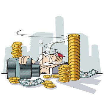 Rich_Man_Surrounded_by_Piles_of_Money_clipart_image